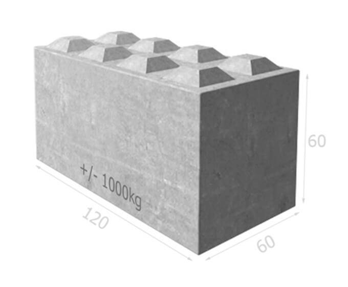 Bloc de béton empilable BT60 120