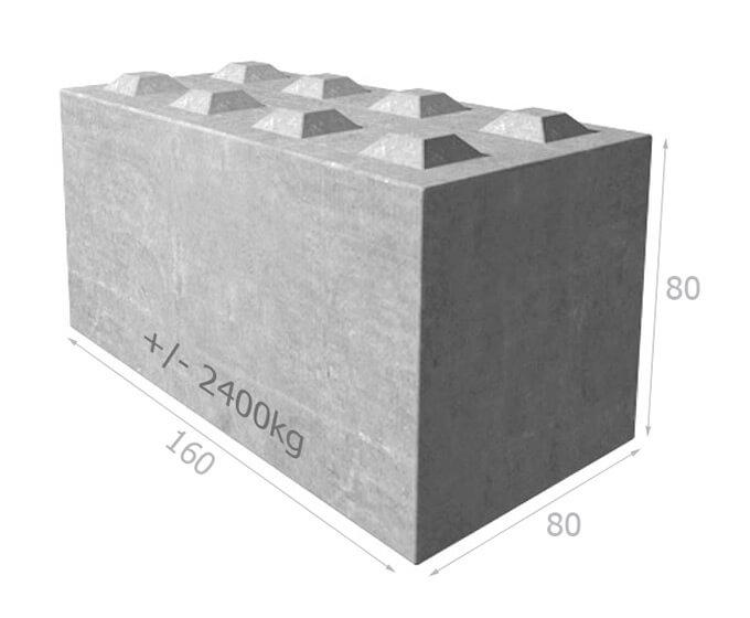 Bloc de béton empilable BT80 160