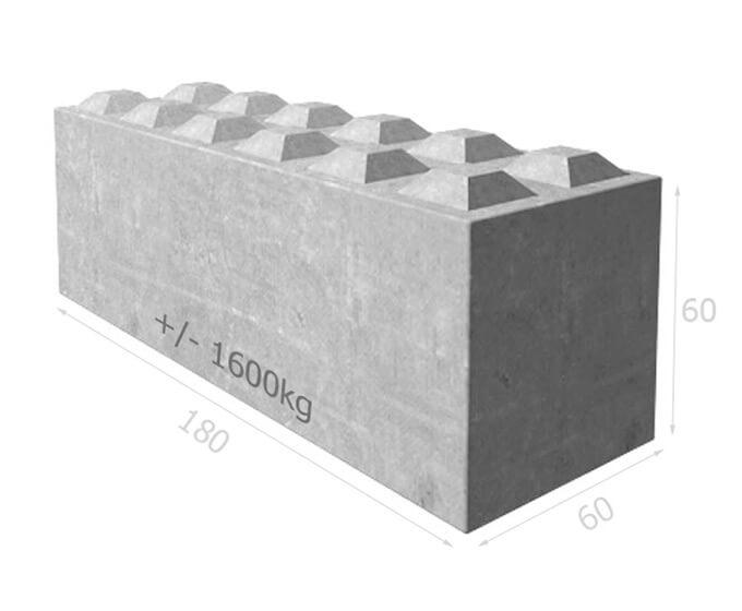 Bloc de béton empilable BT60 180