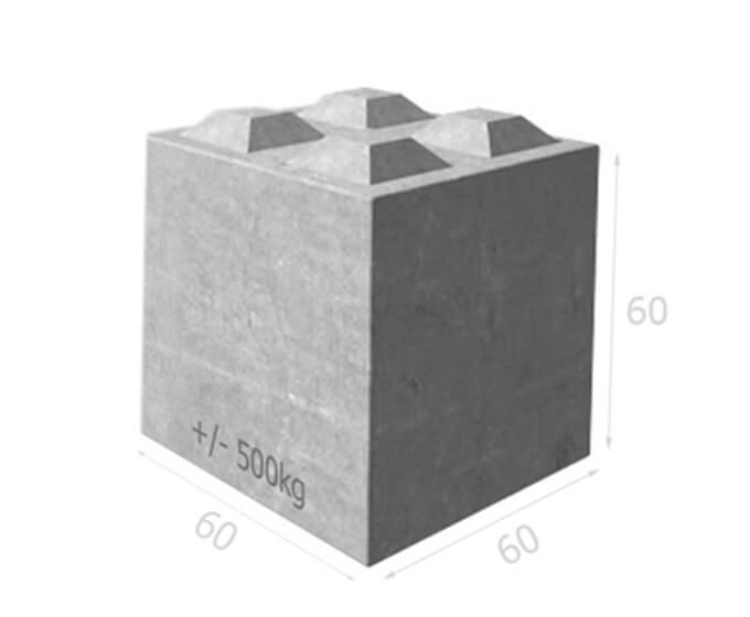 Bloc béton empilable BT60 60