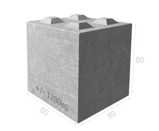 Bloc de béton empilable BT80 80