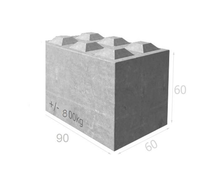 Bloc béton BT60 90