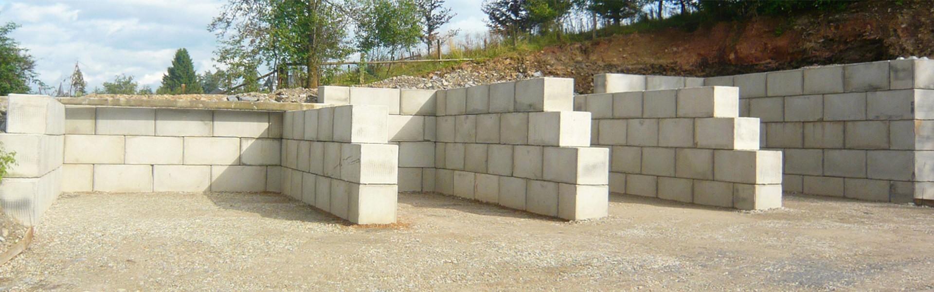 Box entreposage en blocs béton