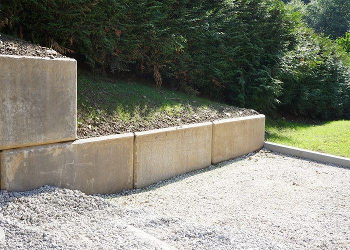 Mur décoratif en blocs béton