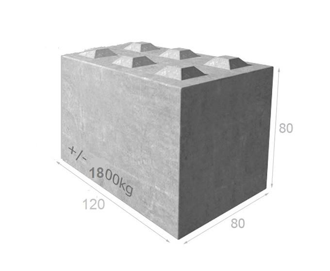 Bloc de béton empilable BT80 120