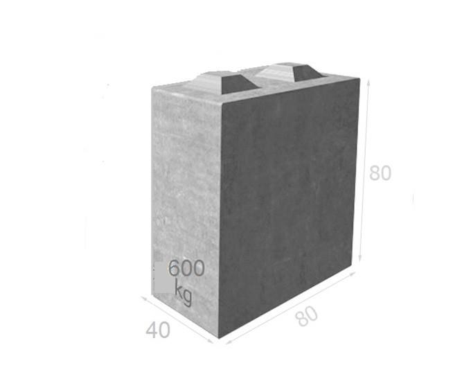 Bloc de béton empilable BT80 40
